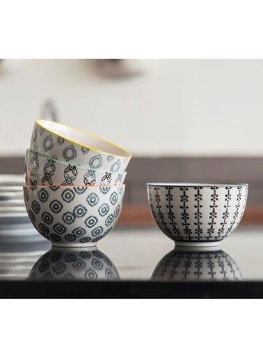 Warm Design 4'lü Handmade Kase Seti Renkli